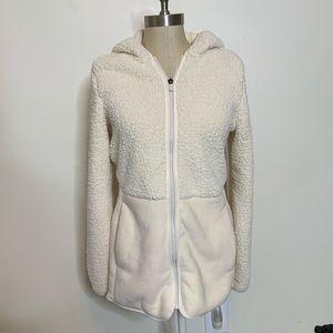 FILA Sport Hooded Sherpa Full Zip Jacket Sz S